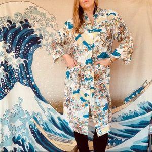 Vintage 1950s Kimono one size